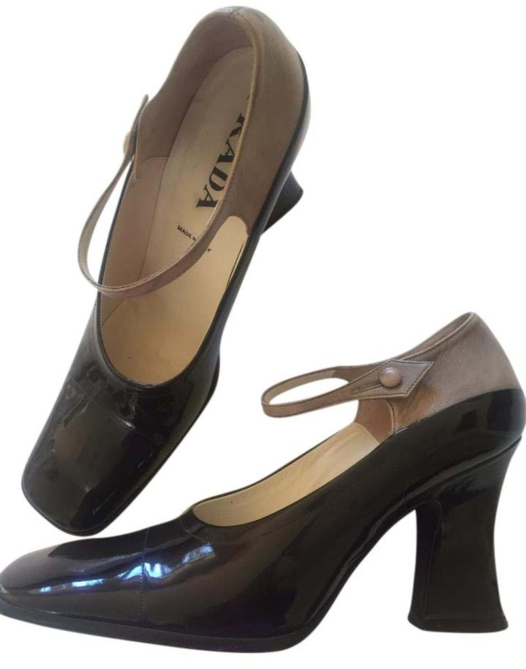 Prada Brown/ Tan Mosto/Albino Vernice-capretto Mosto/Albino Tan 38.5 Pumps 94b9d7