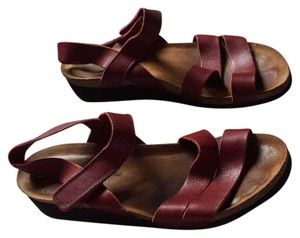 Naot Red Sandals