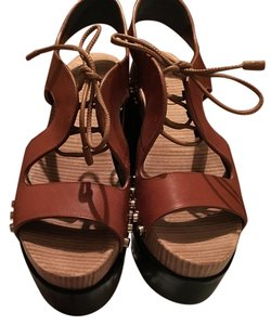 Balenciaga Sandals Brown Platforms