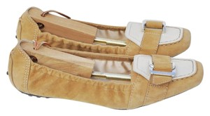 Tod's Camel Suede Flats