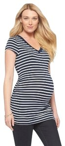 Liz Lange Maternity New Striped V-Neck Tee