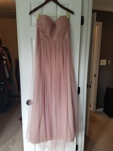 Jenny Yoo Whipped Apricot Polyester Tulle Annabelle Feminine Bridesmaid/Mob Dress Size 10 (M)