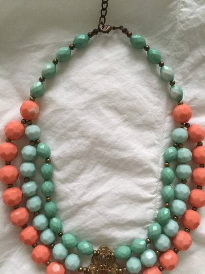 Leslie Danzis Turquoise & Coral Multi Strand Necklace Image 1