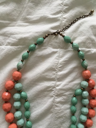 Leslie Danzis Turquoise & Coral Multi Strand Necklace Image 2