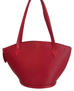 Louis Vuitton Shoulder Tote in RED