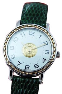 Hermès Authentic Hermes 18K Gold Plated Women Watch