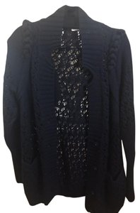 Rebecca Taylor Cardigan Button Down Crochet Warm Sweater
