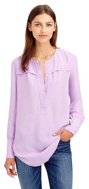 Preload https://img-static.tradesy.com/item/20123989/jcrew-lilac-covered-button-crepe-tunic-a9993-blouse-size-16-xl-plus-0x-0-2-650-650.jpg
