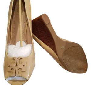 Tory Burch Designer Nude Beige Light oak Wedges