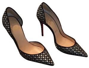 Christian Louboutin Black/platine Pumps