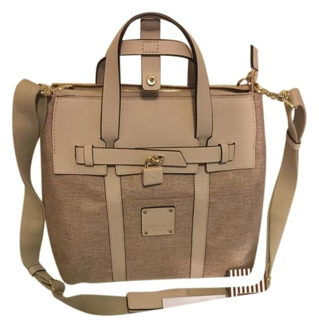 Item - Mini Convertible In Beige Canvas Backpack