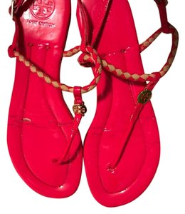 Tory Burch Bright pink with tan Sandals