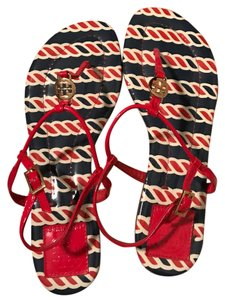 Tory Burch Red/navy/white Sandals