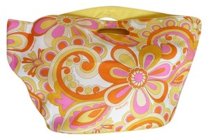Clinique Multi-colored; Fuscia, Sunny Yellow, Tangerine Beach Bag