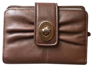 Coach Pleated Turnlock Bifold Wallet