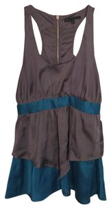Lucca Couture Top Gray, blue