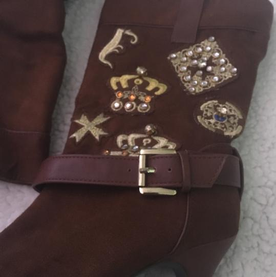 Dollhouse Brown Gold Boots Image 1