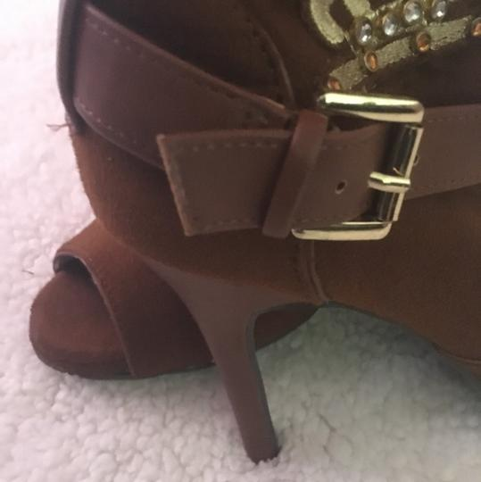 Dollhouse Brown Gold Boots Image 2
