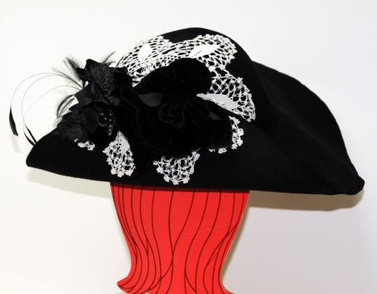 Hand Made One of a Kind Picture Frame Wide Brim Hat 100% Wool, Finest Fur Felt Hand Made Image 1