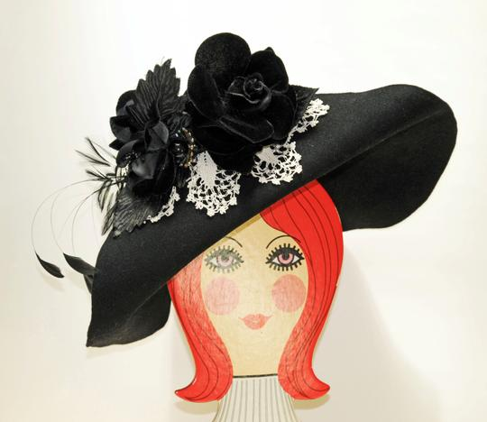 Hand Made One of a Kind Picture Frame Wide Brim Hat 100% Wool, Finest Fur Felt Hand Made Image 7