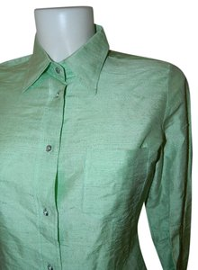 Dolce & Gabbana Button Down Shirt Spring Green