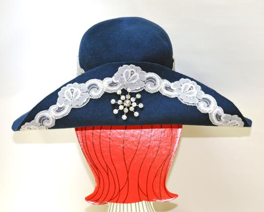 Hand Made One of a Kind Picture Frame Wide Brim Hat 100% Wool, Finest Fur Felt Hand Made Image 2