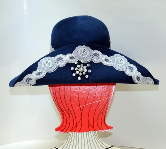Hand Made One of a Kind Picture Frame Wide Brim Hat 100% Wool, Finest Fur Felt Hand Made Image 6