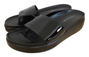 Donald J. Pliner Comfortable Black Patent Leather Sandals