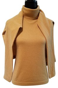Bloomingdale's Cashmere Tan Set Bloomies Cashmere Sweater
