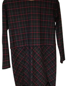 French Connection short dress Plaid. Red/black/grey on Tradesy