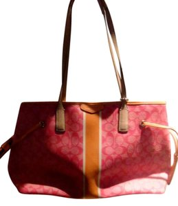 Coach Tote in Pink and orange