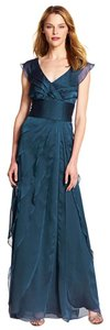 Adrianna Papell Chiffon Bridesmaid Mother Of The Bride Smoke Grey Dress