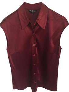 A.B.S. by Allen Schwartz 100% Rayon Size Medium Top burgundy