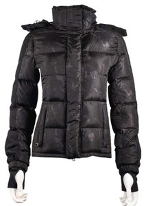Prada Down Camouflage Gray Puffer Coat