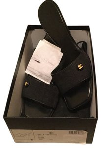 Chanel Logo Box Black Mules