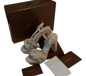 Gucci Sandal Like New Off White Platforms