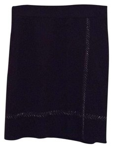 NIC+ZOE Skirt black with silver stiching