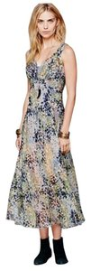 Blue green Multi Maxi Dress by Free People