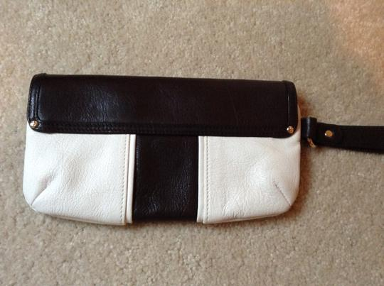 Kate Spade Leather Wallet Wristlet in Brown/Cream