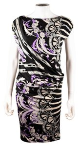 Emilio Pucci Black Geometric Abstract Print Dress