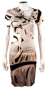 Emilio Pucci short dress Multi Pink Black Geometric Abstract Ruched on Tradesy
