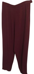 Burberry 70% Acetate 30% Rayon Made In Usa Trouser Pants cranberry