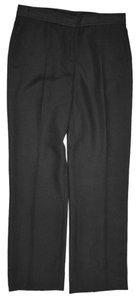 Burberry London Straight Leg Pleated Straight Pants Black