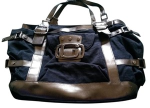Guess Blue Tote in Navy and copper