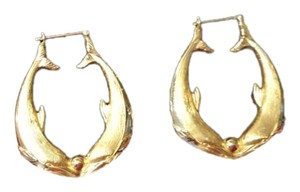 Charles Garnier Vintage 18K Kissing Dolphin earrings from Charles Garnier