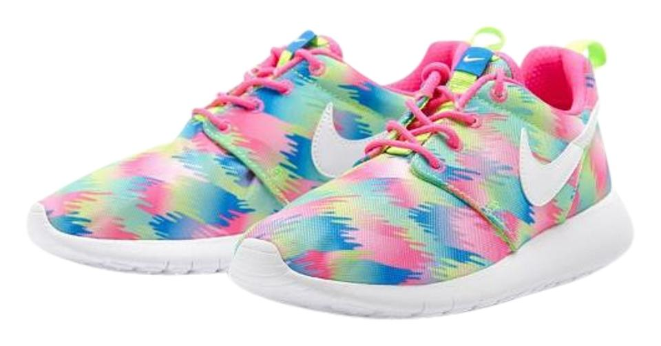 san francisco 410ad 103aa Nike Multi Color Kids Roshe One Print Sneakers Size US 6 Regular (M, B) 50%  off retail