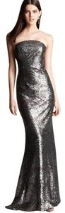 Monique Lhuillier Sequin Strapless Mermaid Sexy Dress