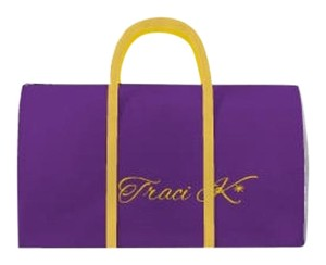 Traci K Collection Purple/white/gold Travel Bag