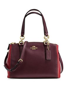 Coach Carryall 34797 Satchel in Burgundy oxblood gold