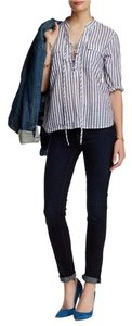 7 For All Mankind Roxanne Skinny Dark-wash Classic Skinny Jeans